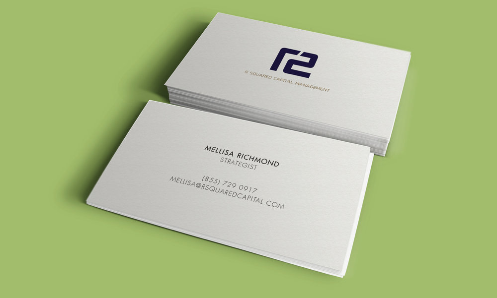 R Squared collateral materials - business cards