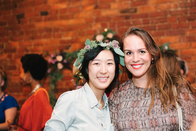 Patricia with Bethany, one of the talented event planners of  Naturally Delicious !