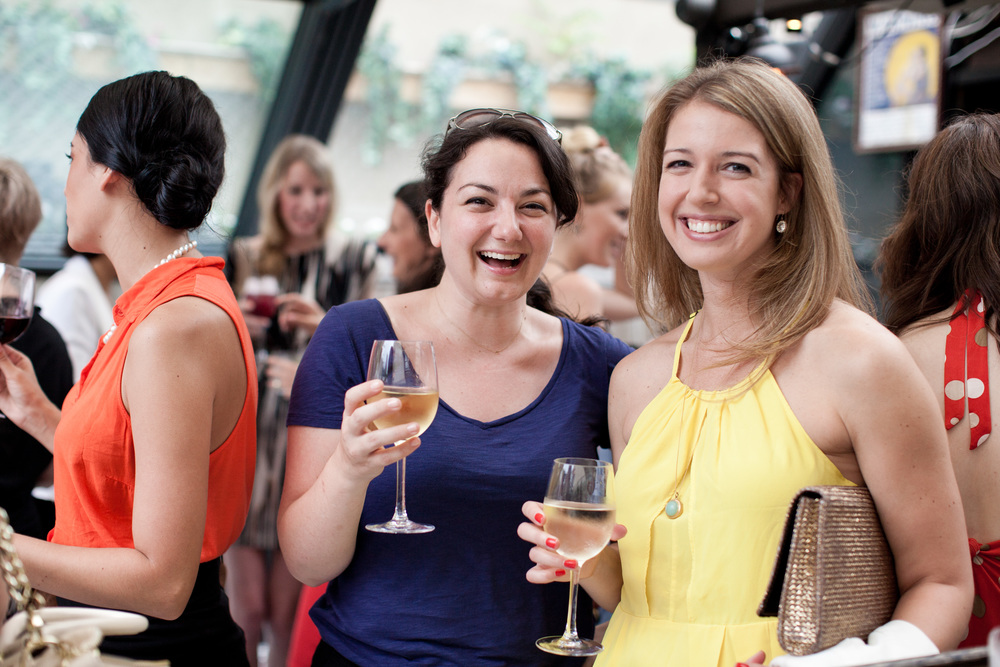 Cheers! Jaine of Brklyn View Photography and Laura of Lyndsey Hamilton Events .