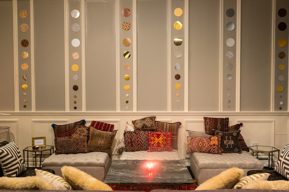 A cozy, chic lounge area from Patina Rentals!