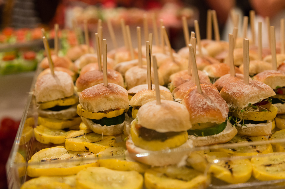 Vegetarian sliders!