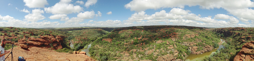 Beautiful viewpoint over the Wilge River and Saalboomspruit.