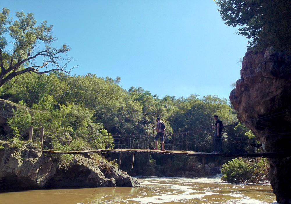 Hennops River suspension bridge – Magaliesberg.