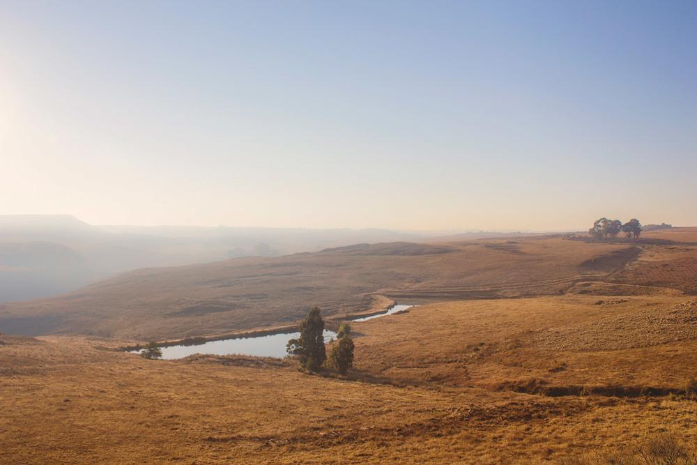 Trout Trail runsalongside these two farm dams.