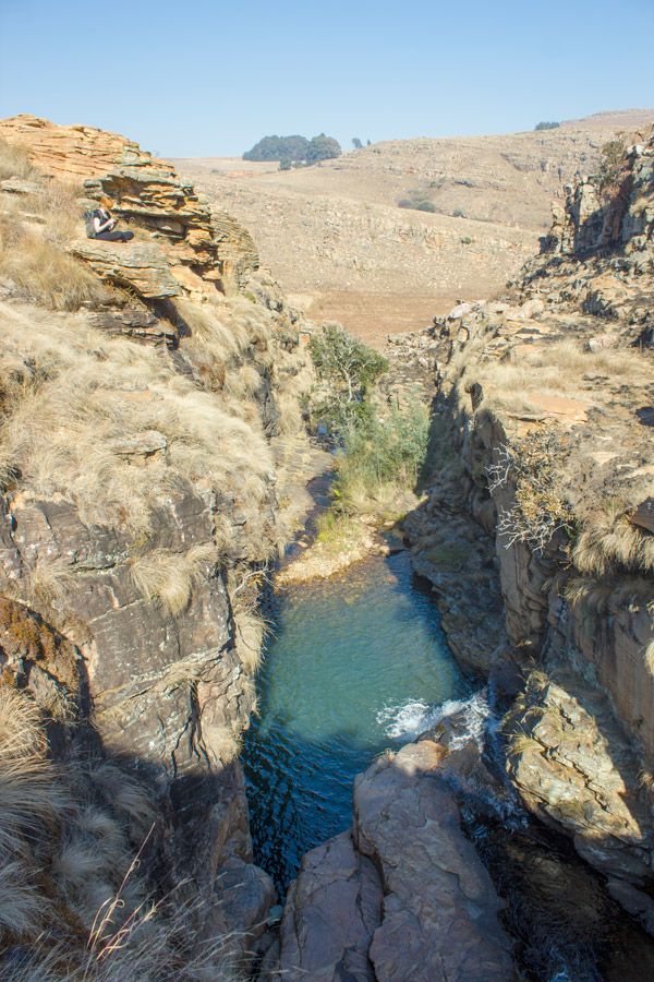 'Groot Gat' a beautiful swimming pool in the stream feeding into the Witpoort river.