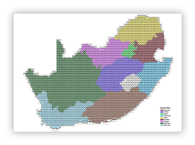 The index of 1913 sheets covering the whole of South Africa.