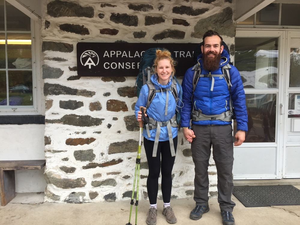 The obligatory 'after' photograph at the Appalachian Trail Conservancy