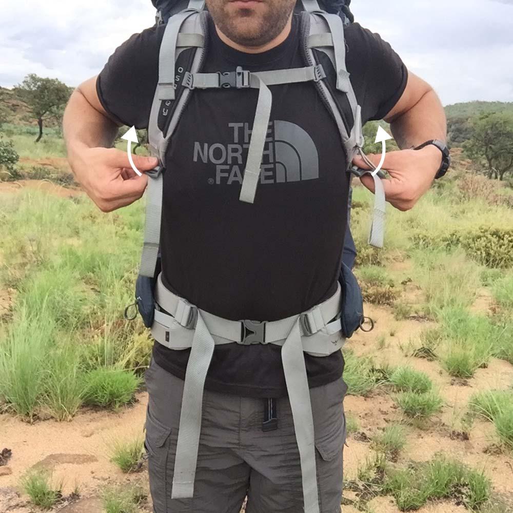 7. Release shoulder straps