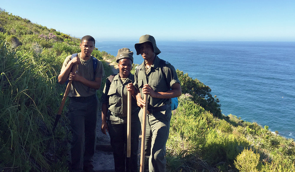 The SANParks maintenance crew who are to thank for the well maintained trail. It's hard work, but the view from their office is unmatched.