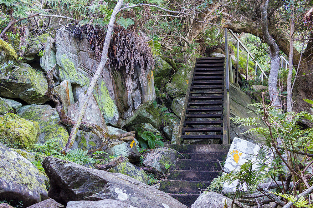 SANParks built stairs on most of the bad ascents and descents to prevent erosion.
