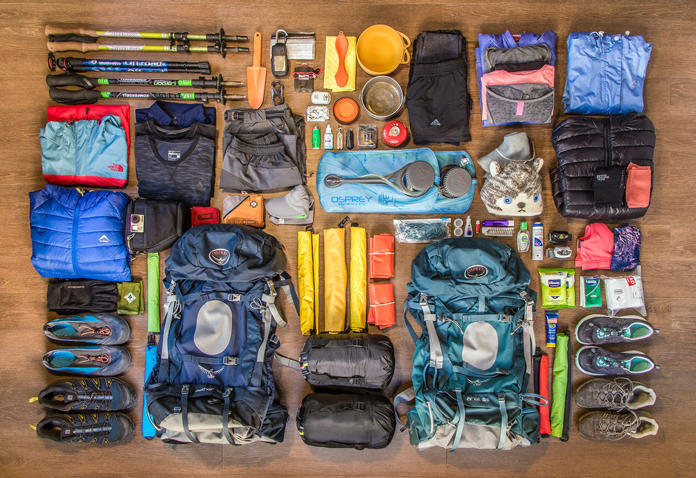 Everything you need for 5 days hiking the Otter Trail.  Click image to expand.