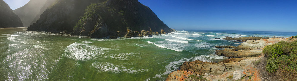 The Bloukrans River, three hours after low tide.  Click to expand.