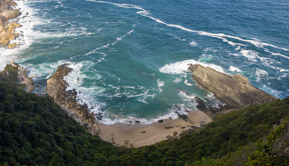 The Otter Trail Day 2 – Bloubaai is a great swimming spot if you're up for the hike down to the bay. The trail forks left and one has to descend quite far down with tired legs.  Click to expand.