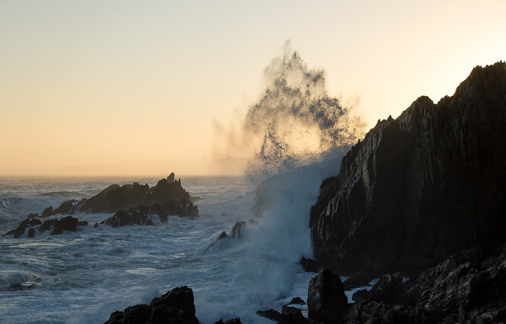The Otter Trail Day 3 – Some of the waves sent spray 20 metres into the air. It makes for hypnotic and therapeutic watching.  Click to expand.
