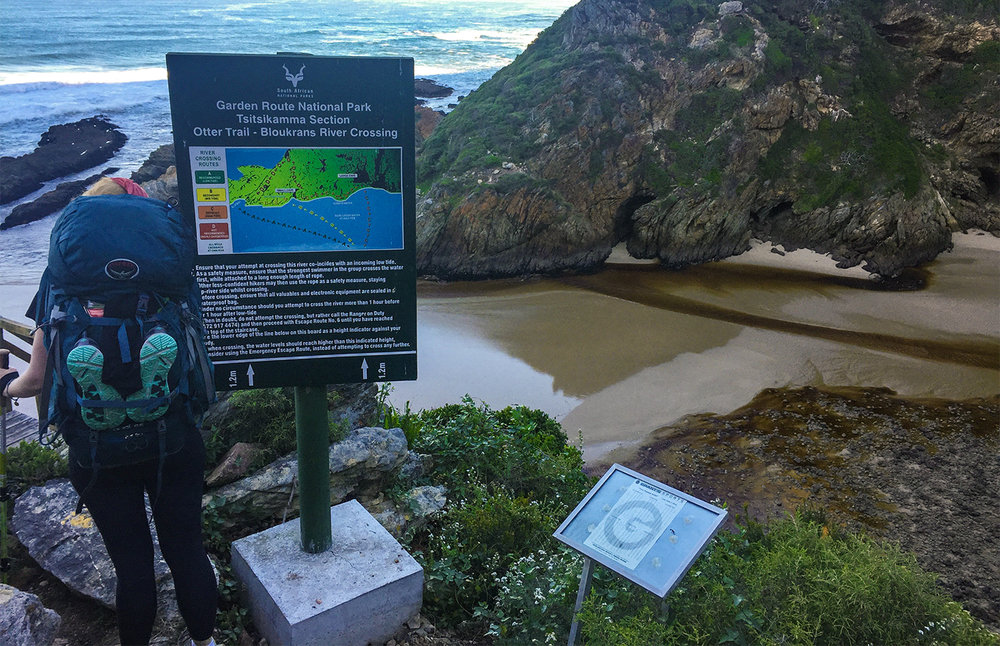 The Otter Trail Day 4 – Bloukrans River crossing. Read more about the river crossing further down in the article.