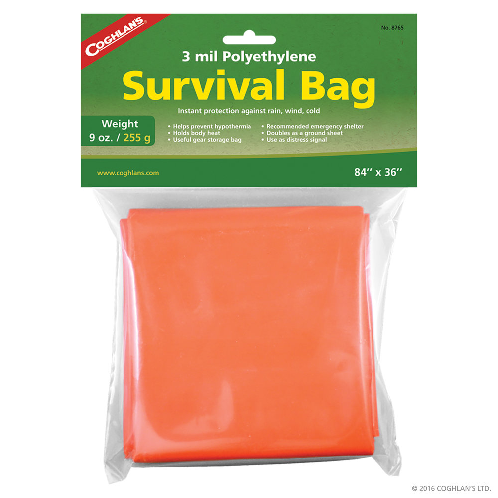Survival bag –  Click to purchase from Cape Union Mart.