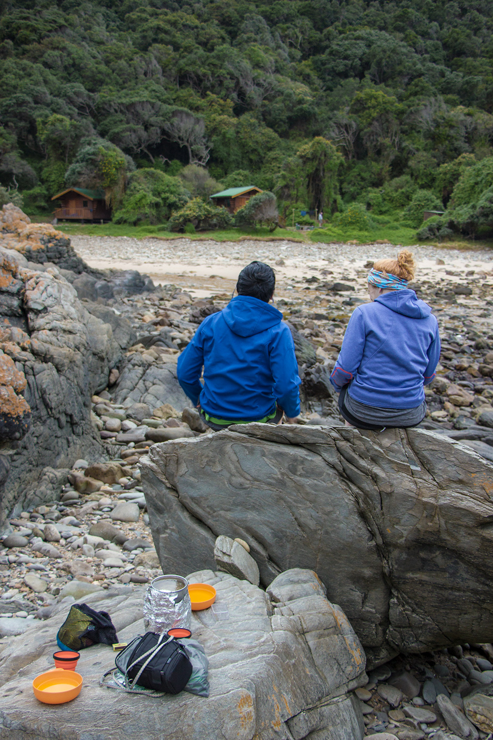 The wide river mouth in front of Scott Hut is really worth exploring. Take your stove to the opposite side of the river and have your breakfast with a spectacular view of the forest.  Click image to expand.