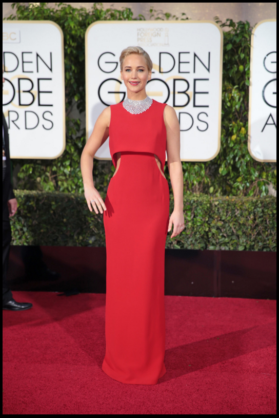 Jennifer Lawrence in Dior / Golden Globes 2016