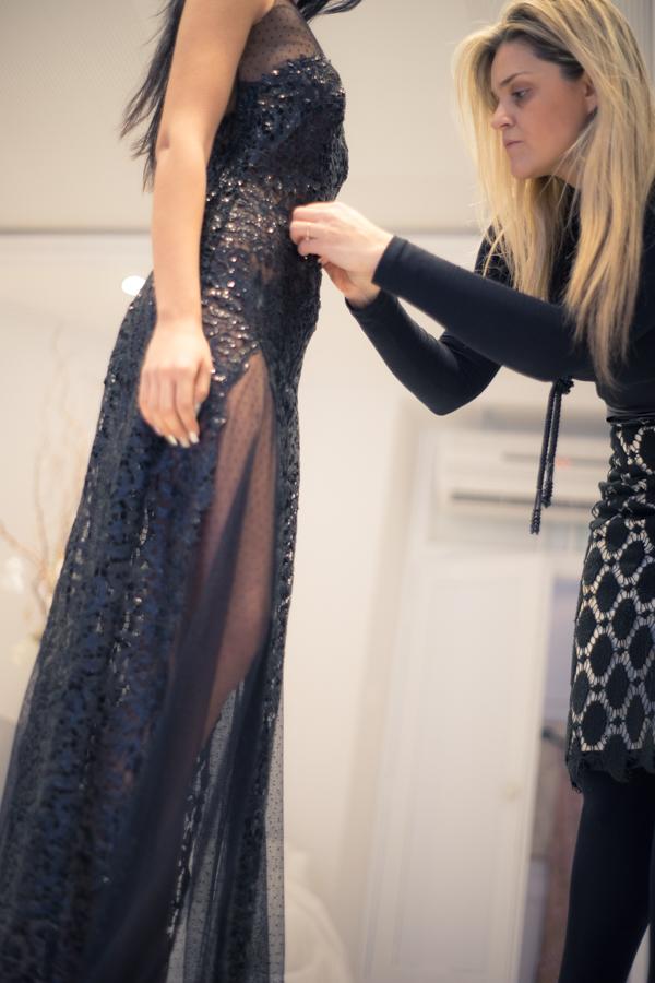 Πρόβα φορέματος Made-to-Measure στο atelier ALKMINI Edessa