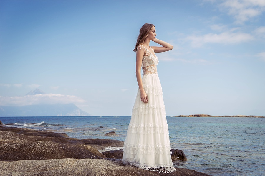 Νέα νυφική κολεξιόν ALKMINI: Νυφικό φόρεμα σε στυλ Boho.