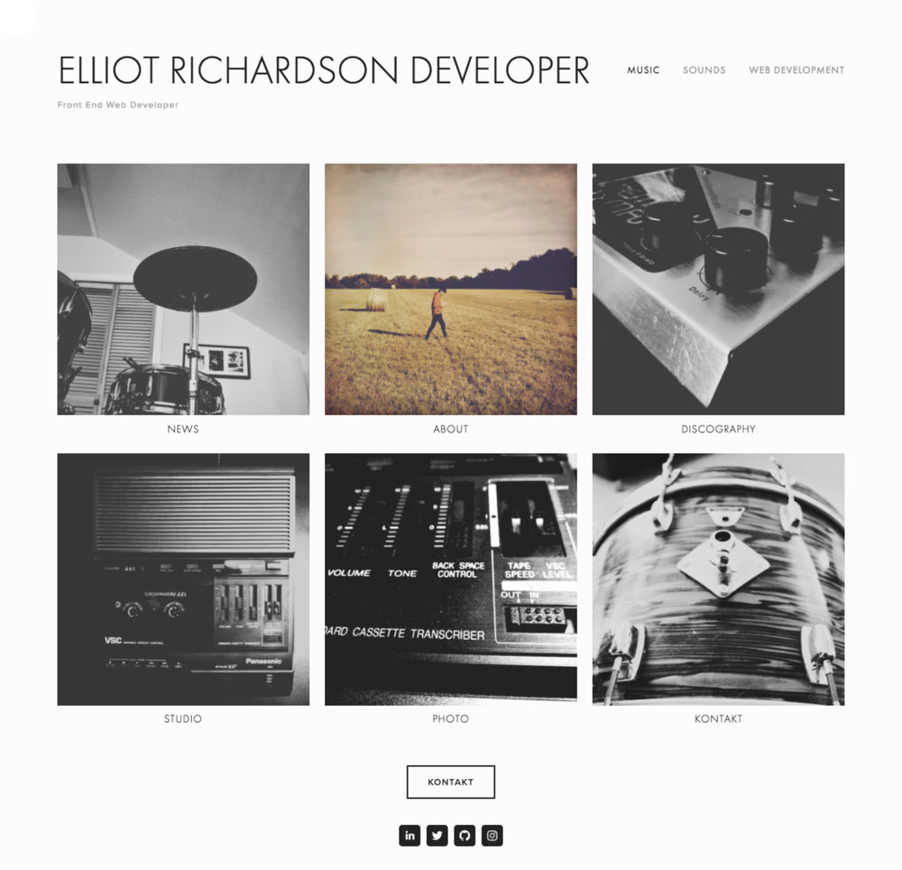 Elliot Richardson Music Site