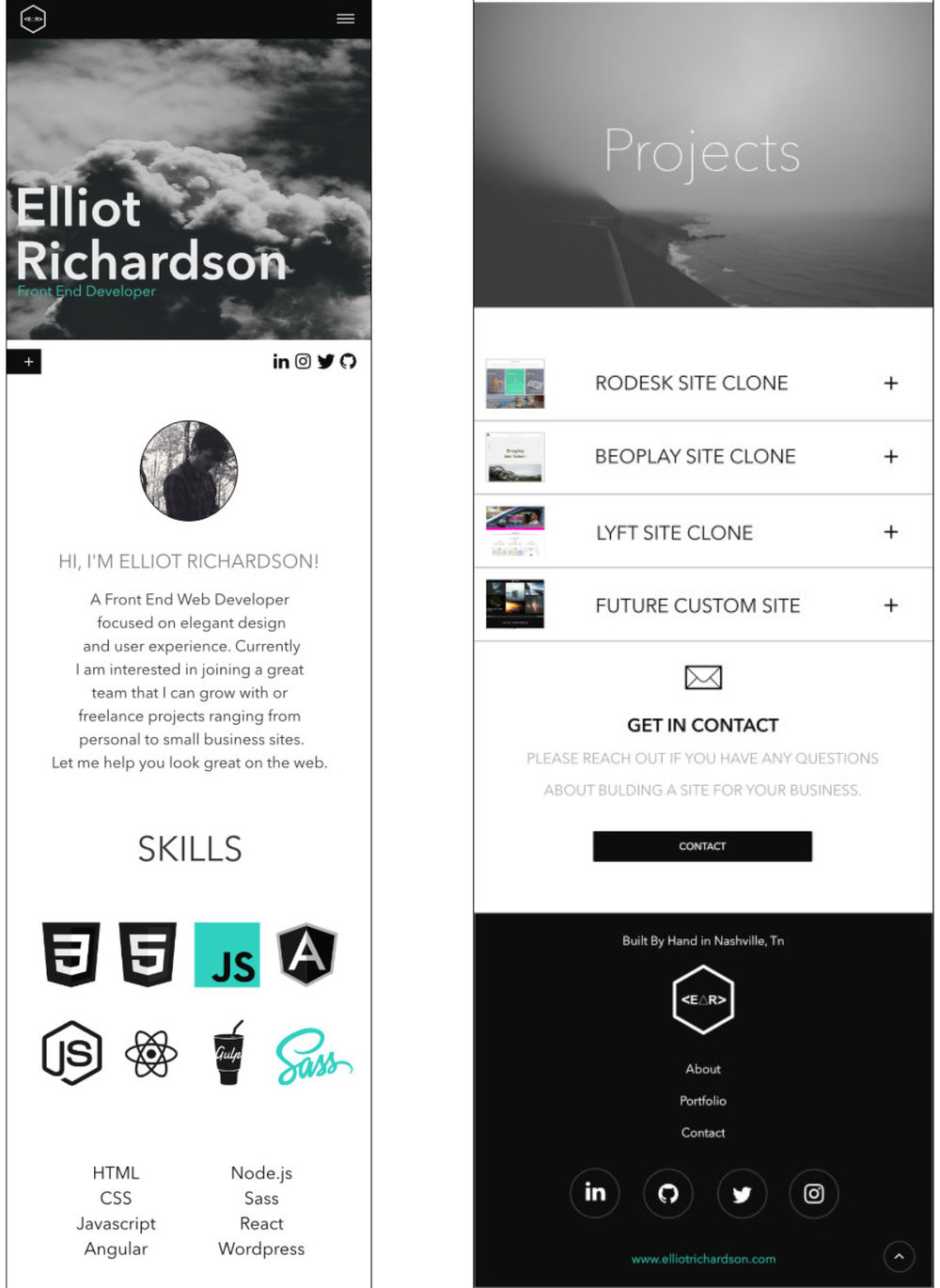 Elliot Richardson.com re-build