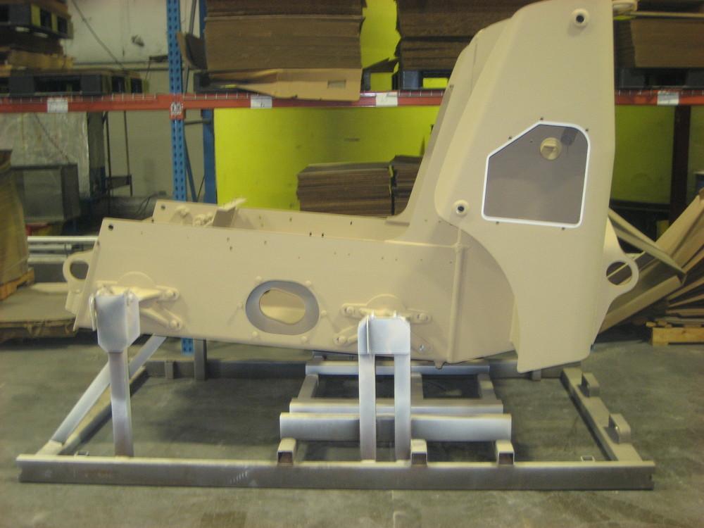 Skid steer loader frame Military CARC