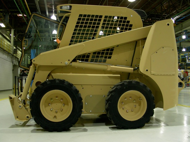 Finished  skid steer loader