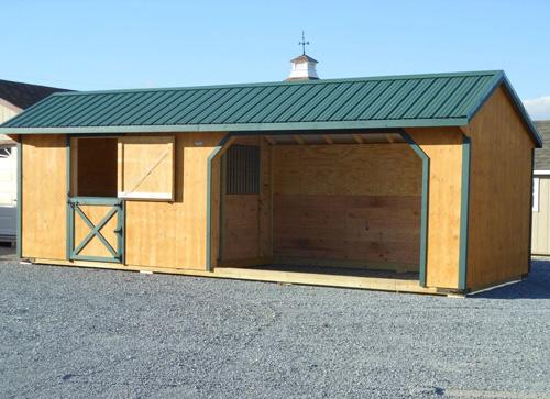 Combination Horse Barn