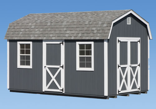 10'x16' Dutch Barn Style Shed