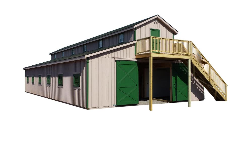 36x72 Monitor Horse Barn