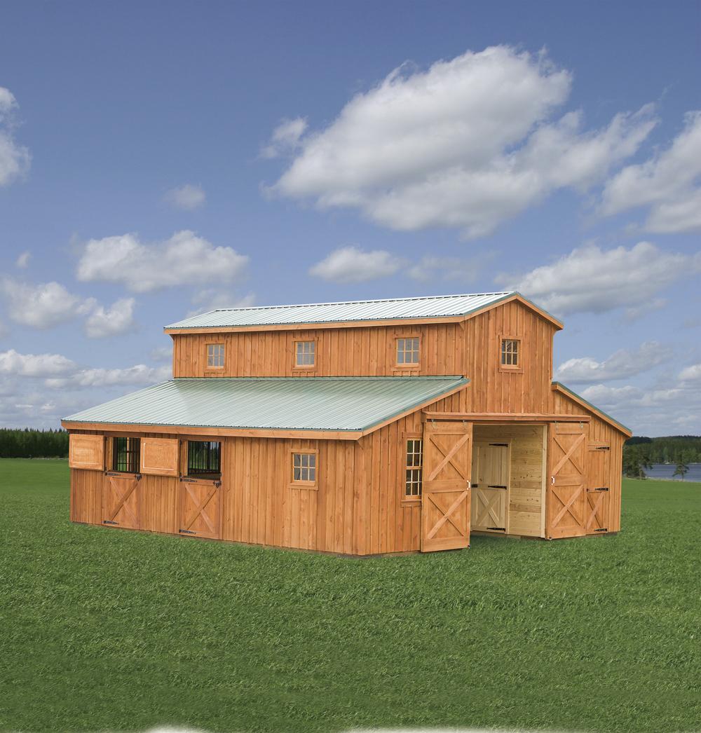 30x30 Monitor Horse Barn