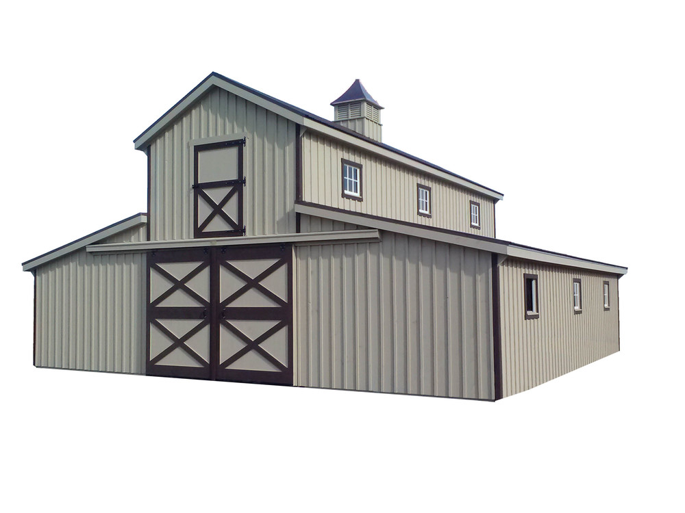 Horse barns r g services for 36x36 garage