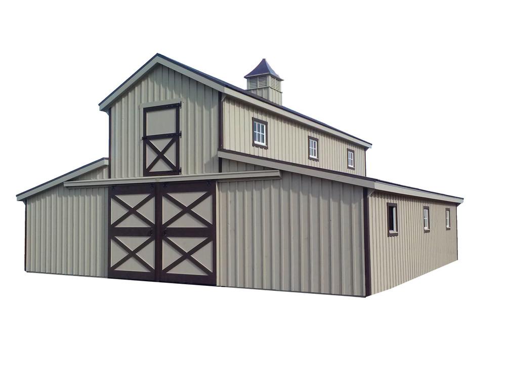 36x36 Monitor Horse Barn