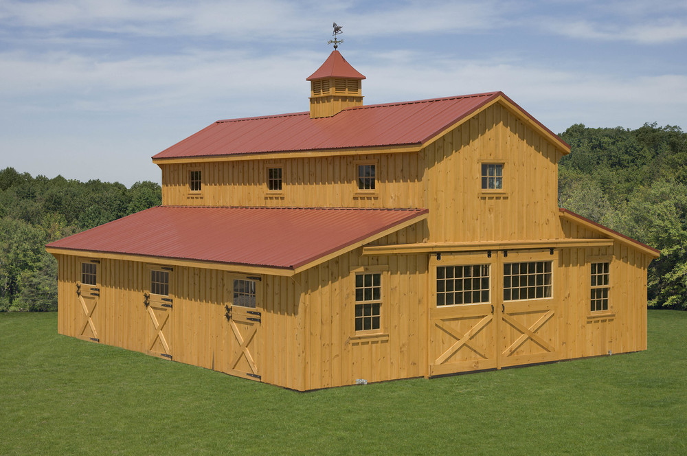 Horse barns r g services for Monitor barn designs