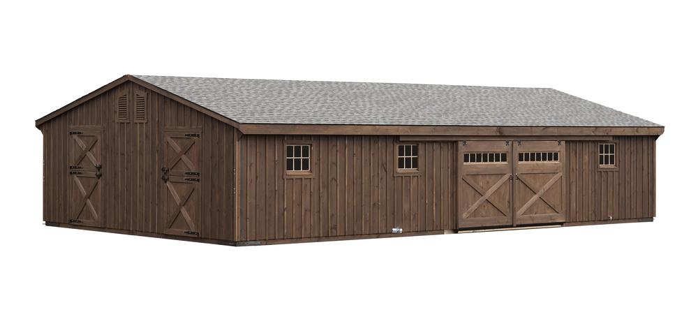 24x48 Double Wide Alpaca Horse Barn