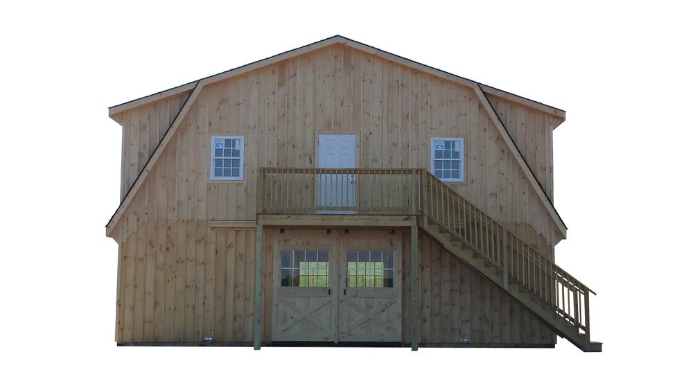 34x24 Gambrel Horse Barn
