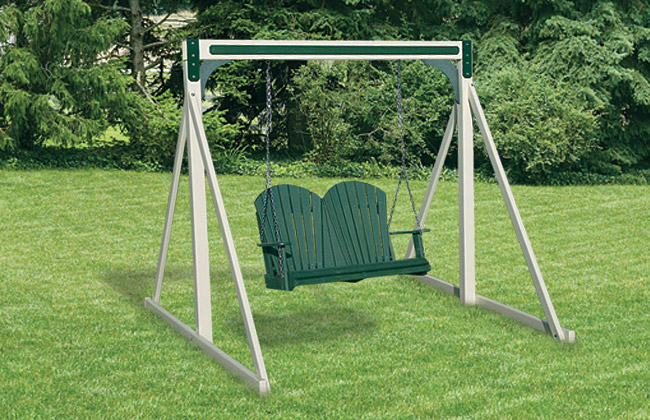 Fan Back Lawn Swing