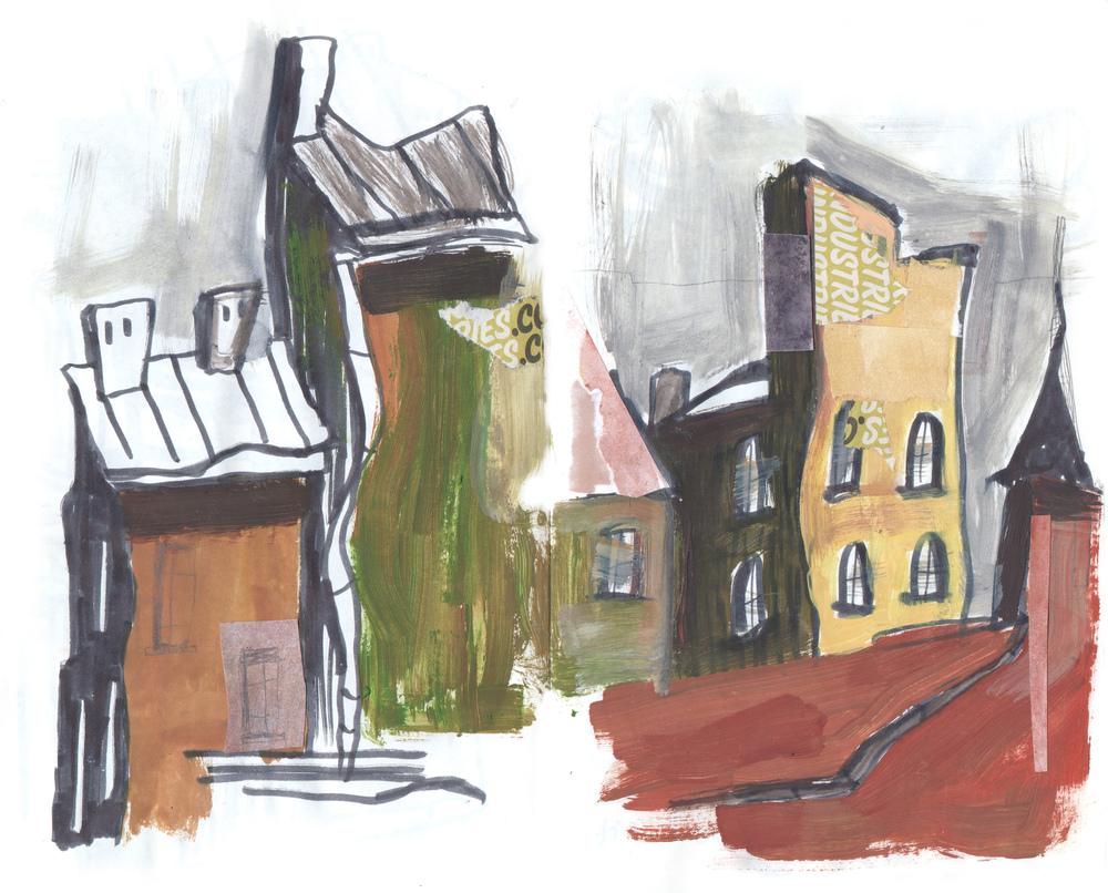 Steel City concept sketches