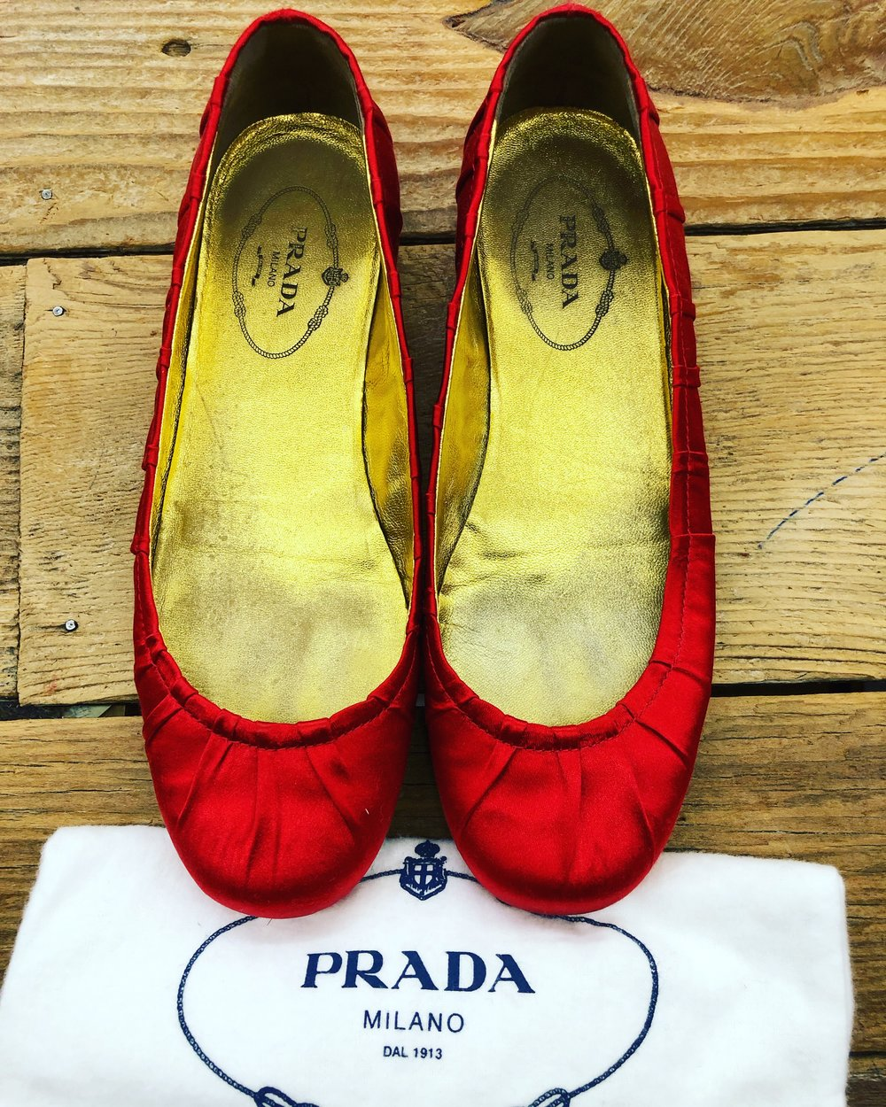 Prada Little Red Shoe - 35 - $99