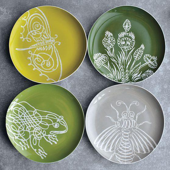 Spring Garden plates