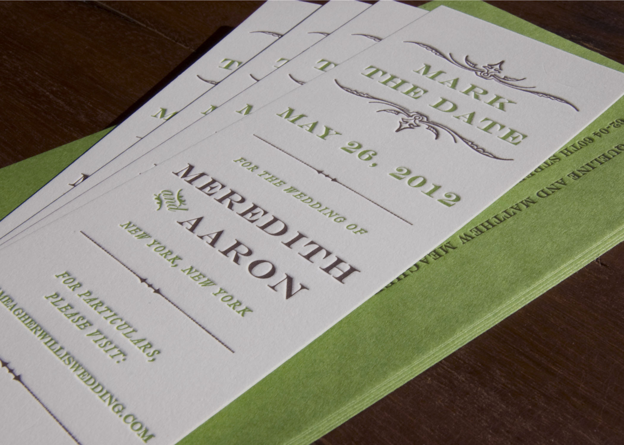 bookmark save the date  Save the Date Bookmark — Sesame Letterpress   Design