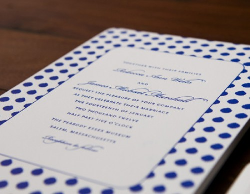 Painted Dots Invitation