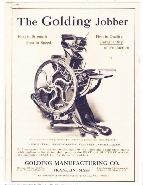 Golding Jobber Advert
