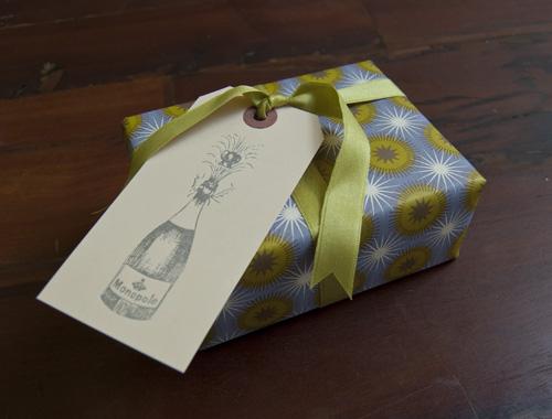 champagne bottle gift