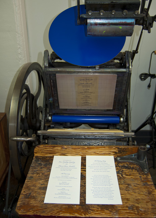 press with printing