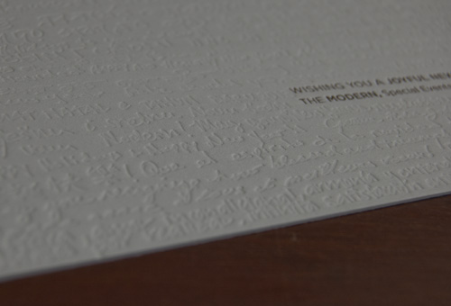 Modern New year Card - close up