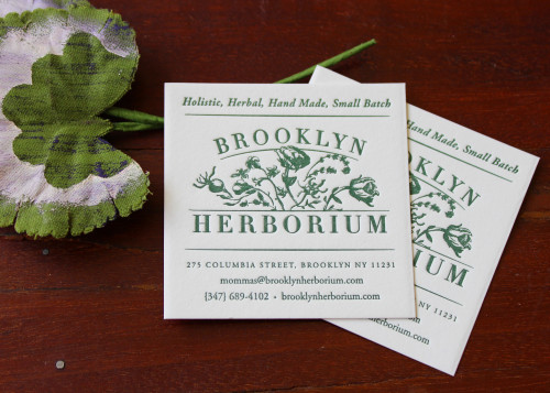 A few recent business cards sesame letterpress design brooklyn herborium is a new store that sells holistic beauty products we love how their card design references nature plants and greenery reheart Images