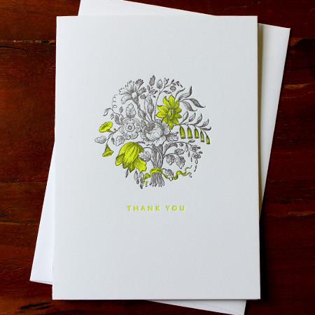neon-yellow-bouquet-thank-you-letterpress-card-sesame