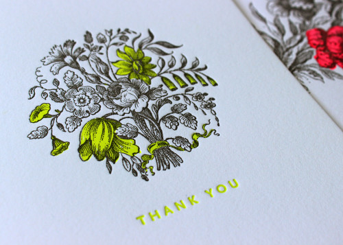neon-yellow-floral-bouquet-thank-you-letterpress-card-sesame